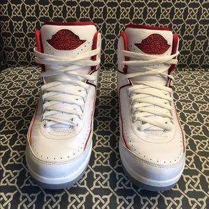 NIKE Air Jordan 2 Retro 'Chicago Home' Sz 12 White